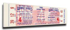 1966 World Series Game 4 Canvas Mega Ticket - Baltimore Orioles