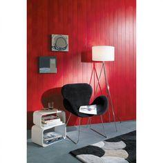<p>Le lambris, c'est aussi des couleurs toniques. La preuve</p> <p>Lambris Pin Maritime Raboté lisse Verni mat Rouge passion. L. 265 x l.9 cm. Ep. 10mm. Réf 21084. 30,90 euros le... Point P, Pin Maritime, Marie Claire, Egg Chair, Accent Chairs, Lounge, Furniture, Home Decor, Passion