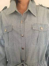 Oso Casuals Women XL Cotton Jeans Shirt Tunic Jacket