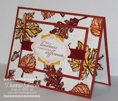 Fall, Thanksgiving, Stampin' Up! thank you card