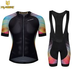 YKYWBIKE men cycling pro cycling bib shorts kits Cycling Jerse Short Set Sleeve Bike Bicycle Clothings pro foam pad