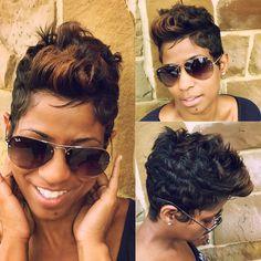 New short cut Cute Hairstyles For Short Hair, Pretty Hairstyles, Curly Hair Styles, Natural Hair Styles, Tapered Hairstyles, Short Sassy Hair, Short Hair Cuts, Short Pixie, Pixie Cuts