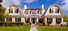 Dutch Colonial home - Patrick Ahearn Architect Dutch Colonial Homes, Colonial Exterior, Exterior Homes, Exterior Design, Flora, Gambrel Roof, My Dream Home, Dream Homes, Traditional House