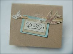 Vintage Theme Wedding RSVP Card Romantic Simple by BlueJardin, $2.25