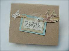 Vintage Theme Wedding RSVP Card Romantic Simple by BlueJardin, $2.25