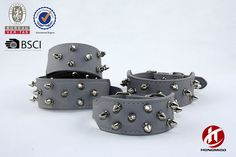 Sharp Spiked Studded Dog Collar,Stylish Leather Dog Collars