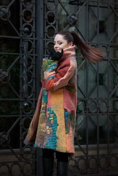 """Unique,handmade ,wool felted coats from new SPRING 2016 Collection """"Districts Quarters"""" by Nadin Smo design. .In this collection I want to show modern, energised, and independent women which is not afraid to be brave and interesting, which is absolutely feeling free herself. She is not similar to any other passing by people, and is living according to her own rules.""""Districts-Quarters"""" it's her own, unique business card and a post for the new, modern world. nadinsmo.com"""