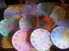 Skip counting wheels
