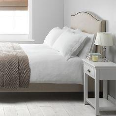 Buy John Lewis Washed Linen Duvet Cover, White online at JohnLewis.com - John Lewis