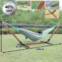 Classy 150kg Outdoor Hammock and Frame - Comes With Frame, Hammock And Carry Bag