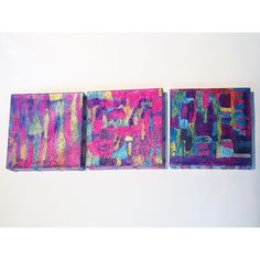 Pink Abstract Original Artwork, Colorful Art Work, Wall Art, Interior... ($125) ❤ liked on Polyvore featuring home, home decor, wall art, abstract wall art, colorful wall art, abstract home decor, purple wall art and colorful home decor