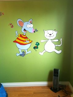 Toopy and Binoo Wall Paint! First Birthdays, Birthday Ideas, Fan, Cool Stuff, Painting, Inspiration, Home Decor, Biblical Inspiration, One Year Birthday