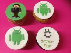 Cupcakes personalizados, android fan. Www.ameliabakery.com