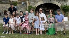 Danish Royal Family attending a Photocall at Chateau de Cayx on June 2014 in Luzech, France. Denmark Royal Family, Danish Royal Family, Prince Frederick, Queen Margrethe Ii, Danish Royals, Crown Princess Mary, Mary Elizabeth, 80th Birthday, Still Image