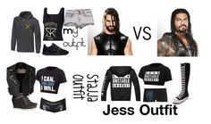 """Ringside for Seth Vs Roman"" by anoai ❤ liked on Polyvore featuring WWE, Helmut Lang, NIKE, H&M, Burberry, Patagonia and Converse"