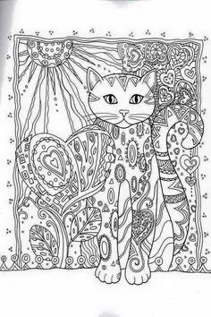 Cat Coloring Book for Adults . 24 Cat Coloring Book for Adults . Cat Coloring Pages for Adults Best Coloring Pages for Kids Pattern Coloring Pages, Cat Coloring Page, Printable Adult Coloring Pages, Animal Coloring Pages, Coloring Pages For Kids, Coloring Sheets, Zentangle, Creative Haven Coloring Books, Cat Colors