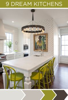 Clean, classic white with a pop of color - and fun (but still neutral) zebra print....it works!