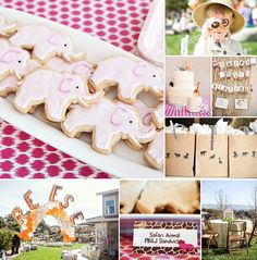 Elephants, giraffes and hippos… oh my! This Pink Safari Theme First Birthday Party by A little Savvy Event looks like a roarin' good time! #FirstBirthday http://hwtm.me/12VrD1G