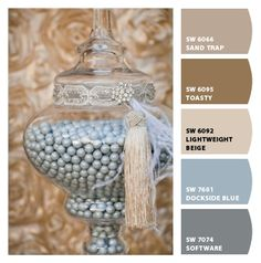 Paint colors from Chip It! by Sherwin-Williams - could substitute baked brown sugar, soft suede, crumb cake, smokey slate or silver foil and basic grey
