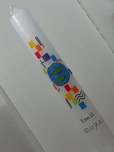 Kommunionkerzen - Taufkerze / Kommunionskerze - ein Designerstück von Familienlichter bei DaWanda