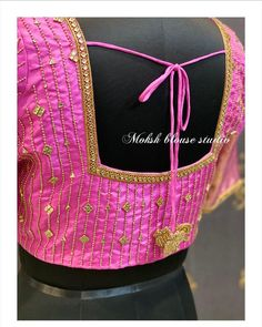Embroidery Blouses, Embroidery Neck Designs, Embroidery Works, Simple Embroidery, Embroidery Dress, Simple Blouse Designs, Silk Saree Blouse Designs, Bridal Blouse Designs, Blouse Neck Designs
