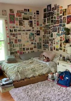Indie Room Decor, Cute Room Decor, Hipster Room Decor, Room Design Bedroom, Room Ideas Bedroom, Bedroom Inspo, Bedroom Decor Teen, Chambre Indie, Chill Room