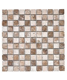 Travertine Noce White Mosaic 25x25mm Tile