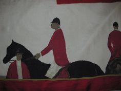 Vintage Jean Paul Lemieux Equestrian Scarf by princessjainascloset, $69.99