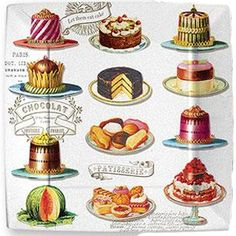 Love vintage cake drawings!!!!!!