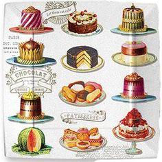 Love vintage cake drawings!!!!!!