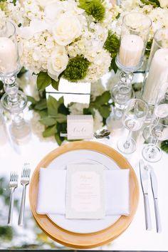 White garden wedding inspiration: http://www.stylemepretty.com/washington-dc-weddings/2015/10/20/modern-mint-white-garden-wedding-inspiration/ | Photography: Kelsey Thompson - http://kthompsonphotography.com/