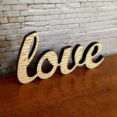 Love Letter Wooden Freestanding Script Word Sign Plaque Neutral Brown Home Decor - by StudioAstratta on madeit Australian Home Decor, Australian Homes, Rooms Home Decor, Home Decor Items, Brown Home Decor, Script Words, Dinosaur Crafts, Wooden Decor, Love Letters