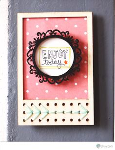Turn wood veneer frames into cute magnet with supplies you already have in your stash!