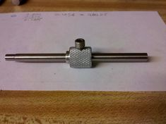 Adjustable depth stop for Unimat milling head. The rod is dia. drill rod and the knurled adjustable stop is aluminum rod. Homemade Lathe, Homemade Tools, Small Metal Lathe, Engineering Tools, Maker Shop, Lathe Projects, Extruded Aluminum, Machine Tools, Metal Working