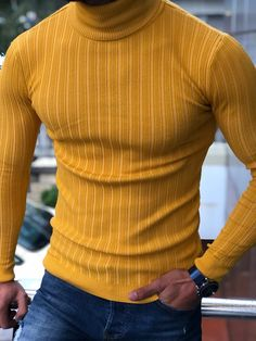 Bojo Eva Slim-Fit Turtleneck Knitwear in 5 Colors Chinese Clothing For Men, Ribbed Sweater, Men Sweater, Formal Men Outfit, Mens Fashion Sweaters, Vogue, Well Dressed Men, Western Wear, Knitwear