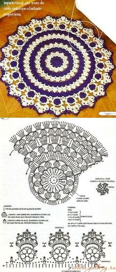 Trendy ideas for crochet pillow mandala rug patterns Motif Mandala Crochet, Crochet Rug Patterns, Crochet Circles, Doily Patterns, Crochet Squares, Crochet Granny, Granny Squares, Mandala Rug, Mandala Design
