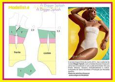 A Bigger Splash. Lingerie Patterns, Sewing Lingerie, Clothing Patterns, Underwear Pattern, Doutzen Kroes, Sewing Clothes, Diy Clothes, Sewing Paterns, Swimsuit Pattern