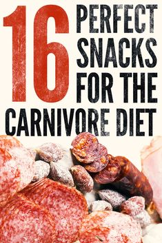 When your on the carnivore diet you don't really need snacks but there are times when they come in handy and that's why we dropped the ultimate carnivore diet snack list. Are any of these on your shopping list? Meat Diet, Diet Food List, Food Lists, Zero Carb Diet, No Carb Diets, Low Carb, Snacks List, Diet Snacks, Diet Meals