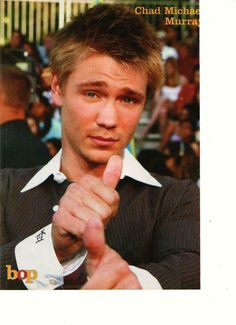 Chad Michael Murray thumbs up Chad Michael Murray, George Michael, Chad Micheals, Netflix Music, Ricky Schroder, Kristy Mcnichol, Scott Baio, Joey Lawrence, Jonathan Taylor Thomas