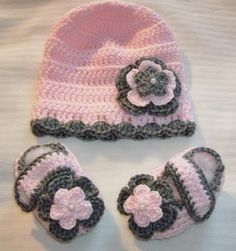Just too cute  Handcrafted items - just love them!  http://yardsellr.com/for_sale#!/baby-girl-crocheted-mary-jane-booties-and-hat-36-months-10030-made-to-order-2080462