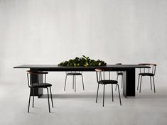 Arn is a minimal table created by Denmark-based designers Rune Vigil and Esben Christoffersen of Eberhart. With a clean and sharp definition, Arn will reign majestically in both dinner- and meeting situations. Arn finds itself best suited with enough air and space around him, and will domineer the stage in every setting. The table is a statement that underlines the conscious style of its owner. With its monumental character, Arn is the perfect choice for a larger space where you wish to…