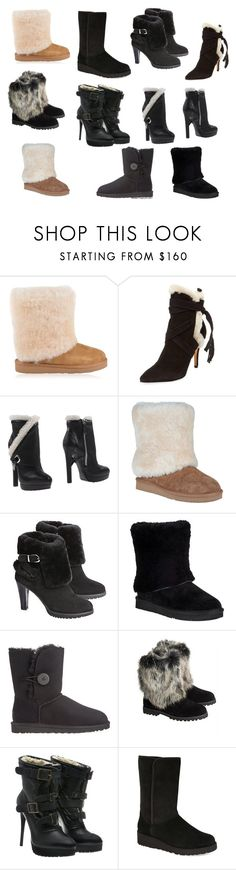 """My favorite shearling boots"" by veronababy ❤ liked on Polyvore featuring UGG, Schutz, Alexander McQueen, UGG Australia, Overland Sheepskin Co. and Burberry"