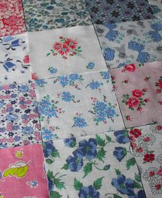 16 vintage feedsack 5inch squares from the 1940s1950s by oodles, $19.75