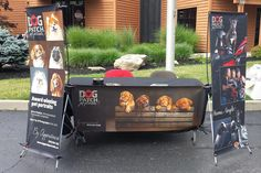 "Dog Patch Pet Portraits uses eSigns.com for their Table Banners and Banner Stands! Check out their review, ""My display using your banners looks awesome!"" -Susan G."