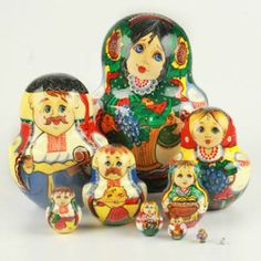 Ukrainian Family of 10 Nesting Doll