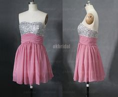 prom dress bridesmaid dress chiffon bridesmaid dress by okbridal, $119.00 - Comes in all colors! There is a long version too from the same etsy store... @Amanda Snelson Parkinson