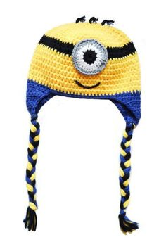 Hekla Minion Lue Minions, Winter Hats, Crochet Hats, Beanie, Knitting Hats, The Minions, Beanies, Beret