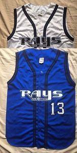 Men's Athletic Knit New Jersey Rays amateur baseball team jerseys blue/white #13