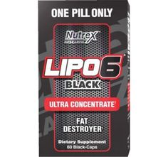 Nutrex Lipo-6 Black Ultra Concentrate 60 Black-Caps #weightloss #workout #diet #fitness   SHOP @ BodyConcept.com
