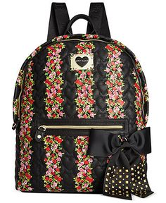 Betsey Johnson Backpack, Floral